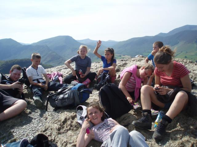 Everyone put your hands in the air- we made it to the top!