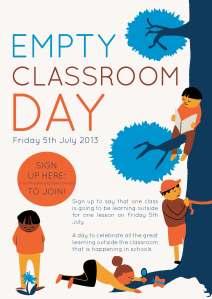 130510. Zoe Slade - Empty Classroom Day poster